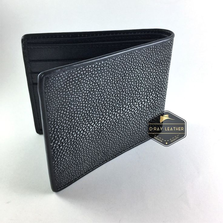 A Polished stingray wallet for men Grey Colour by @drayleather . This polished stingray wallet has a smooth texture and is finished in a striking pale grey color with black wocskin interior. This classic design of stingray wallet is the most popular. . A beautifully handmade example of a sting ray wallet with a full cow skin interior. . • Hand selected stingray skin direct from the tannery. • Hand cut leather • A grade cow skin interior • 9.5cm x 11.5cm • card holders • ID h..