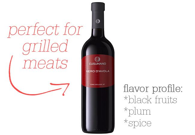 Cusumano Nero d'Avola - Pair with: red meats off the grill, pizza and lasagna