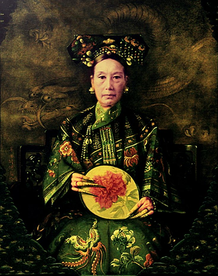 Empress Cixi - China (1881) began as a minor concubine of the Chinese emperor, but became Dowager Empress when she gave birth to a royal heir. She is rumored to have murdered her son so that she could continue ruling China after he came of age. She supported the Boxer rebellion in 1899-1900.