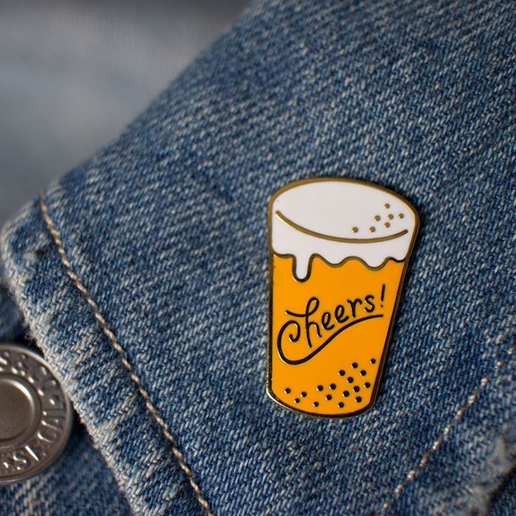Cheers Enamel Pin via kookoo.tictail.com. Click on the image to see more!