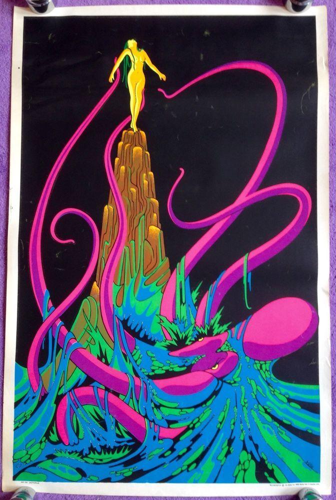 Greatest 119 best Blacklight Posters 60's & 70's images on Pinterest  UV57