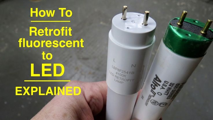 Chris Notap Diy Guru And Tinkerer Gives A Down To Earth Explanation On How To Rewire Your Fixtures For D Led Fluorescent Led Fluorescent Tube Led Shop Lights