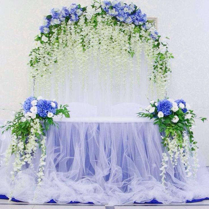 @studio.bezrychko в Instagram: «Свадьба в синем цвете. На этой неделе у нас был популярен этот цвет и глицинии!»