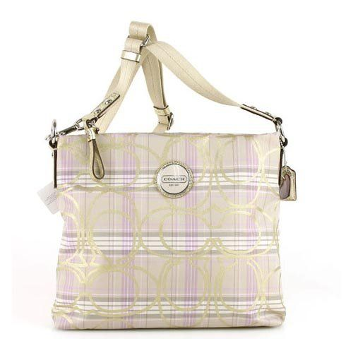 Coach Signature Plaid File Crossbody Bag 17473 Multicolor Spring/Gold