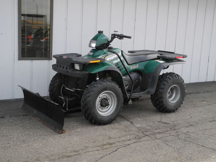 Use this vehicle all year long, in the spring through fall to enjoy the trails and in the winter to plow snow! This 2000 Polaris Magnum 500 4x4 ATV is equipped with the Polaris snow blade and has only 156.8 hours for just $1990. See more at: http://www.powerequipmentsolutions.com/products-a-services/online-store/utvs-and-atvs-new-a-used/polaris/2000-polaris-magnum-500-atv-with-snow-plow.html  #Polaris #Magnum #4wd #ATV #forsale #PowerEquipmentSolutions #PES #Vandalia