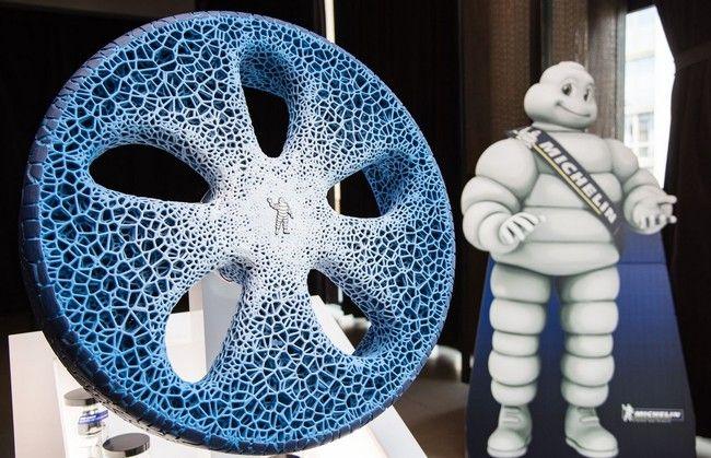 #Tecnologia En Michelin sueñan con una rueda sin aire impresa en 3D a partir de materiales biodegradables: Para la fabricación de un…