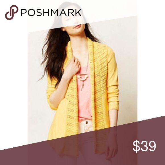 Anthropologie Angel North Yellow Cardigan XXS P This is a gorgeous Angel of the North yellow cardigan in size XXSP Anthropologie Sweaters Cardigans