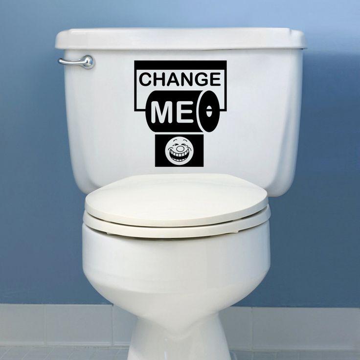 Black English creative DIY wall stickers toilet stickers  Home Decoration wallpaper  JG1826