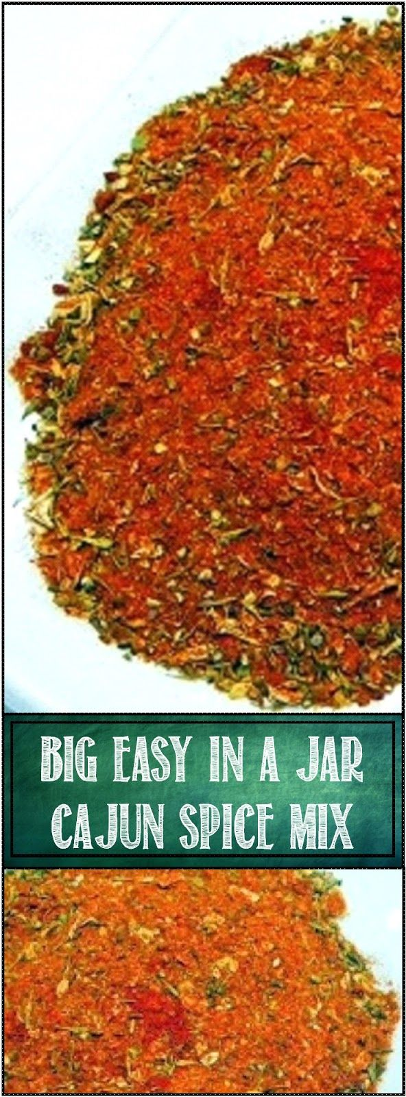 Big Easy in a Jar Spice Mix... You really ought to learn to mix your own spices. MUCH CHEAPER, easy and you control the amount of heat (important in a Cajun mix like this) as well as salt. IMPOSSIBLE to get a low salt spice mix unless you mix your own! Enjoy!