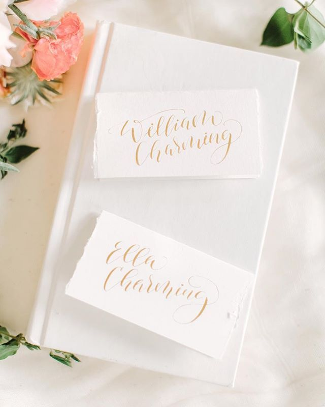 sample wedding invitation letter for uk visa%0A Romantic fairytale gold calligraphy for wedding placecards  So enchanting   Photo by Weddings by Christopher