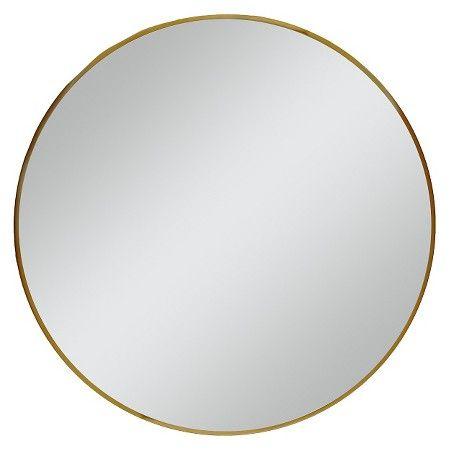 """Round Mirror Brass 28"""" -Threshold™ : Target. 60$ CAD"""