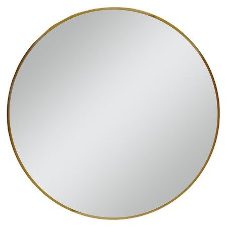 "Round Mirror Brass 28"" -Threshold™ : Target"