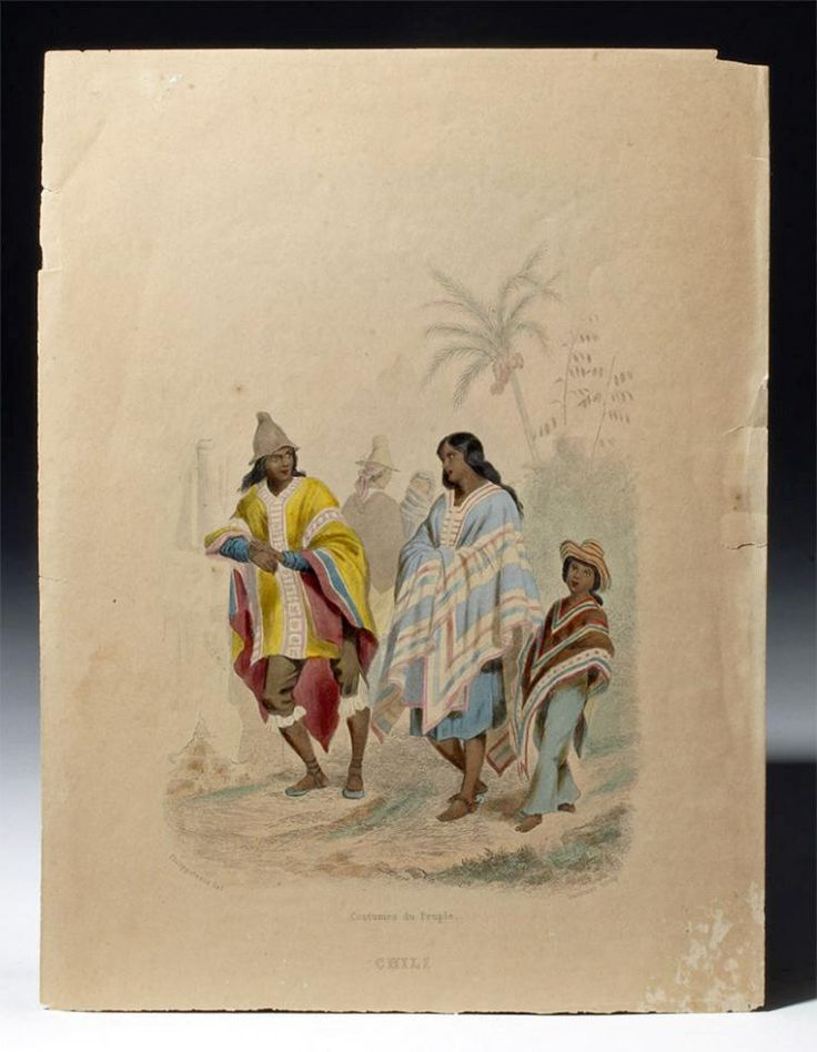 Chili, Costumes du Peuple (Chile, Costumes of the People), engraved by Saulnier after Philippoteaux, ca. 1859.