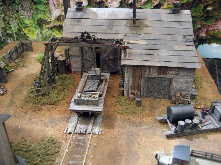 Logging Railroad | Railroad logging camp made from Sierra West scale Models in to a ...