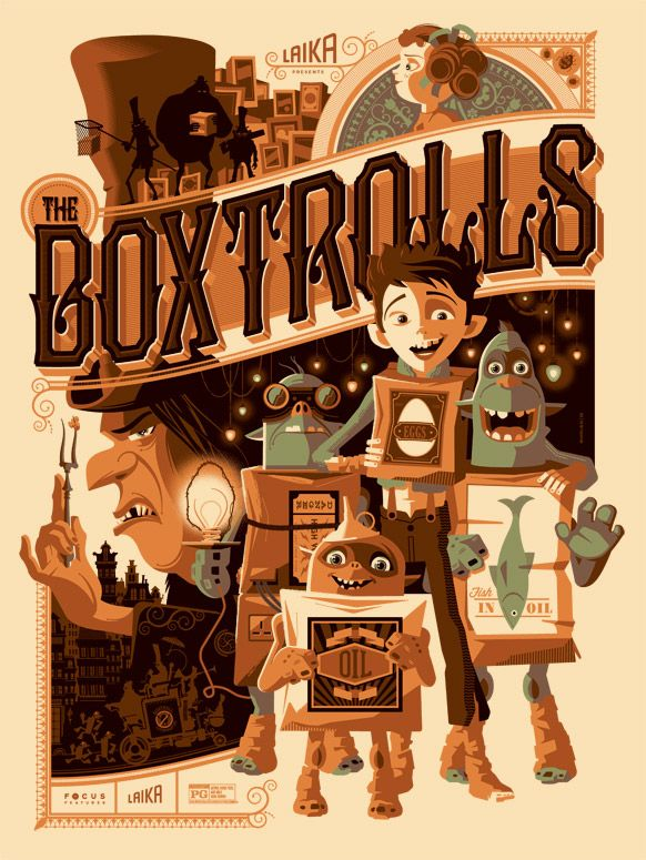 The Boxtrolls by Tom Whalen. Love anything by Laika ^^