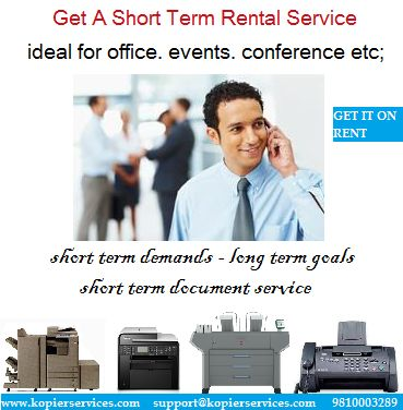 With the help of our capable & hardworking engineer's assistance you can abstain from making costly mistakes. It will in the end save your money, while extending the estimation of your business. #PHOTOCOPIER #PRINTER #RENTAL IN #DELHI #GURGAON #NOIDA KOPIER SERVICES VISIT: www.kopierservices.com Email: support@kopierservices.com Call for Quotations Now!!! - 9810003289