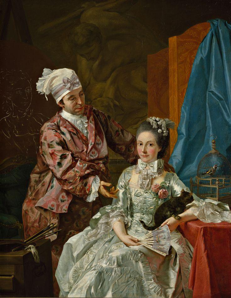 Baldrighi Giuseppe  Autoritratto con la moglie, c. 1757