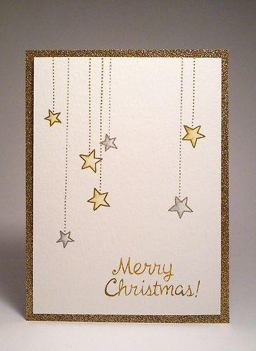Yksinkertainen joulukortti, tähdet