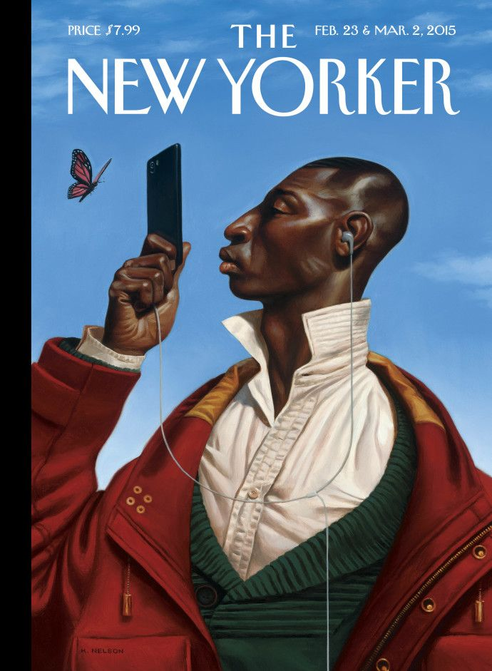 To celebrate the start of the magazine's tenth decade, we turned to our artists for ideas. Take a look at all nine covers for our Anniversary Issue: http://nyr.kr/1Fh7Uv5 (Cover by Kadir Nelson)