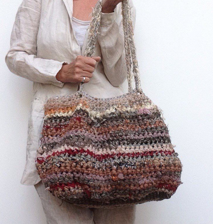 fabric-strip-crochet-purses