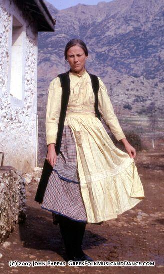 Paula in Kandyla Costume, 1970. Kandyla; Arkadia, Peloponnisos.