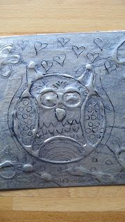 Klinkers in Beeld: Uil in aluminiumfolie