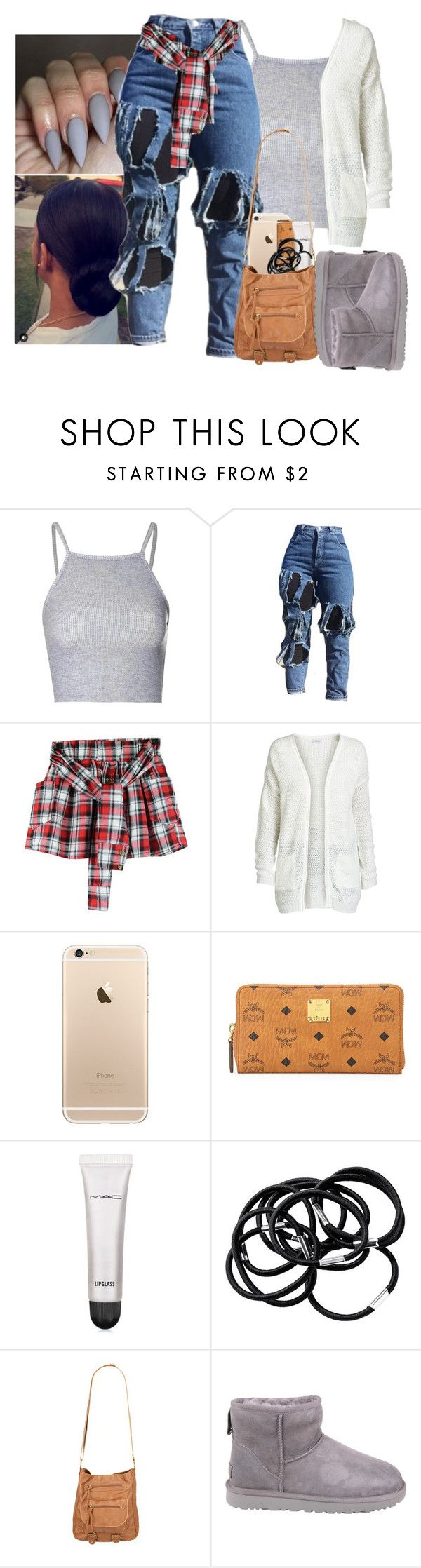 """Untitled #640"" by kayykayy15 ❤ liked on Polyvore featuring Sonatina, Glamorous, ONLY, MCM, MAC Cosmetics, H&M, T-shirt & Jeans and UGG"