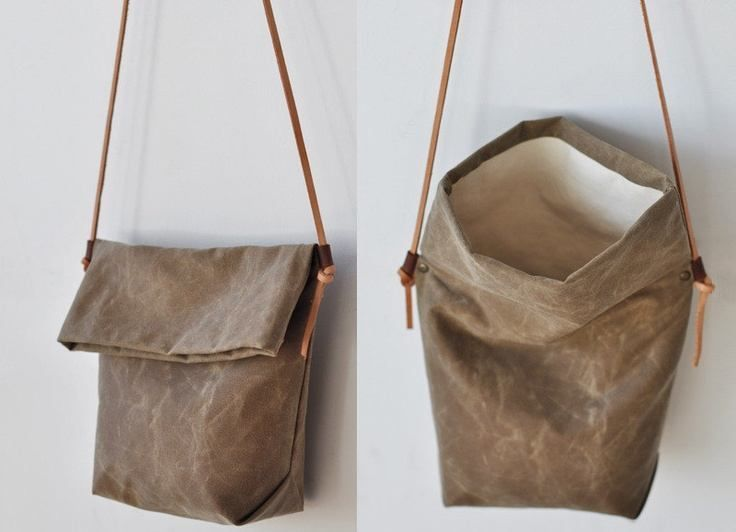 Leather fold-over bag (no pattern, just for ideas)