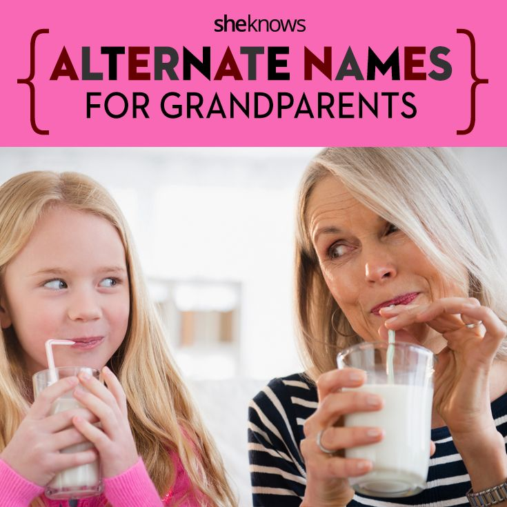 Cute ideas for when they don't want to be Grandma or Grandpa! Alternate name for grandparents