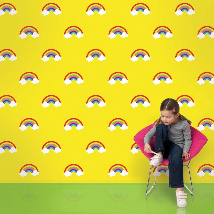 "2.17' x 26"" Rainbows Wallpaper"