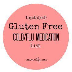 {Updated} Gluten Free Cold/Flu Medication List