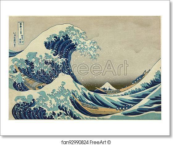 Free art print of The Great Wave off Kanagawa by Katsushika Hokusai