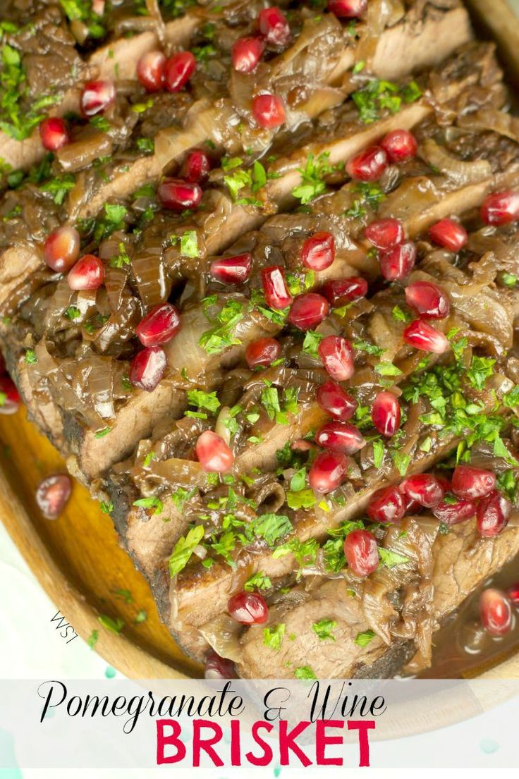 Wine And Pomegranate Brisket | Recipe | Pomegranates, Wine and Read ...