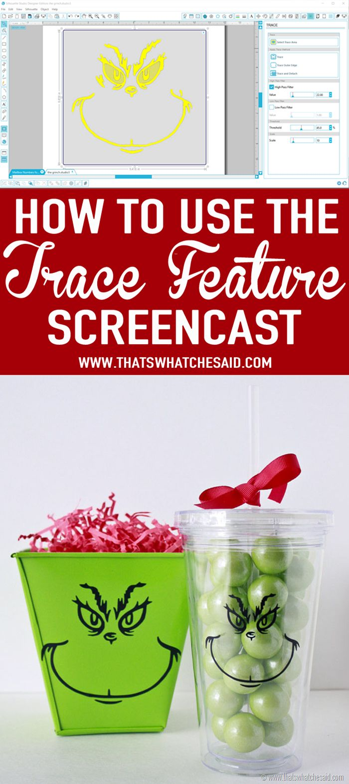 Screencast on how to use the trace feature in Silhouette Studio!  So handy!