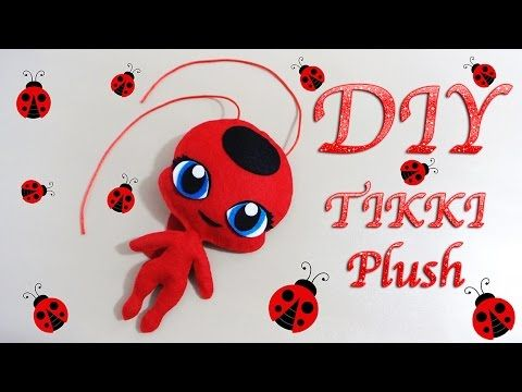 MIRACULOUS LADYBUG TIKKI PLUSH | PELUCHE DE TIKKI | COMO HACER | KWAMI | DIY - YuureYCrafts - YouTube                                                                                                                                                                                 Más