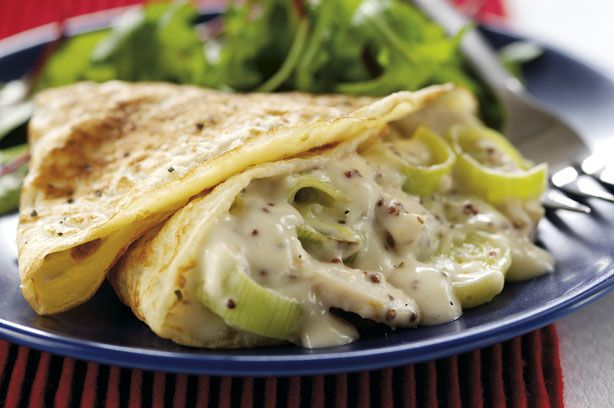 Chicken and leek pancakes recipe - goodtoknow