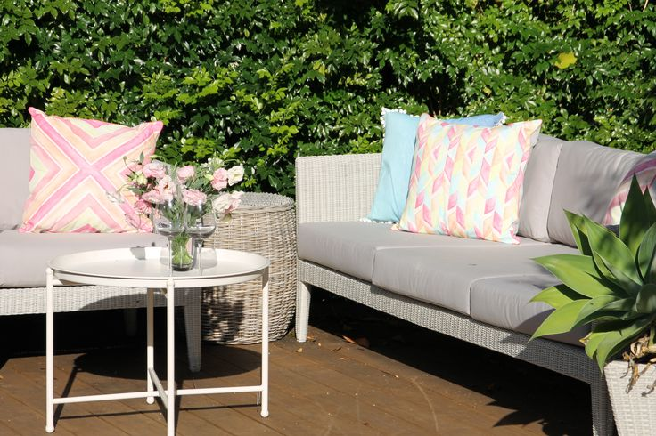 A cosy corner near the pool - Satara Outdoor furniture. www.satara.com.au