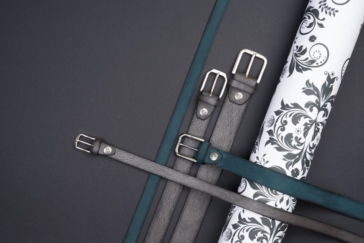Buckles & Belts - Belt/Gürtel - New Autumn Collection 2016 - Torean - Nubuk-Leather - petrolio - petrolium - metal brush antracite - grey - silver - Design in SWITZERLAND made in ITALY https://www.facebook.com/BucklesBelts
