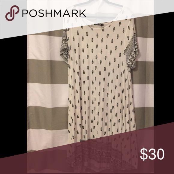 Printed tshirt swing dress! So cute!! ASOS Curve Dresses Midi