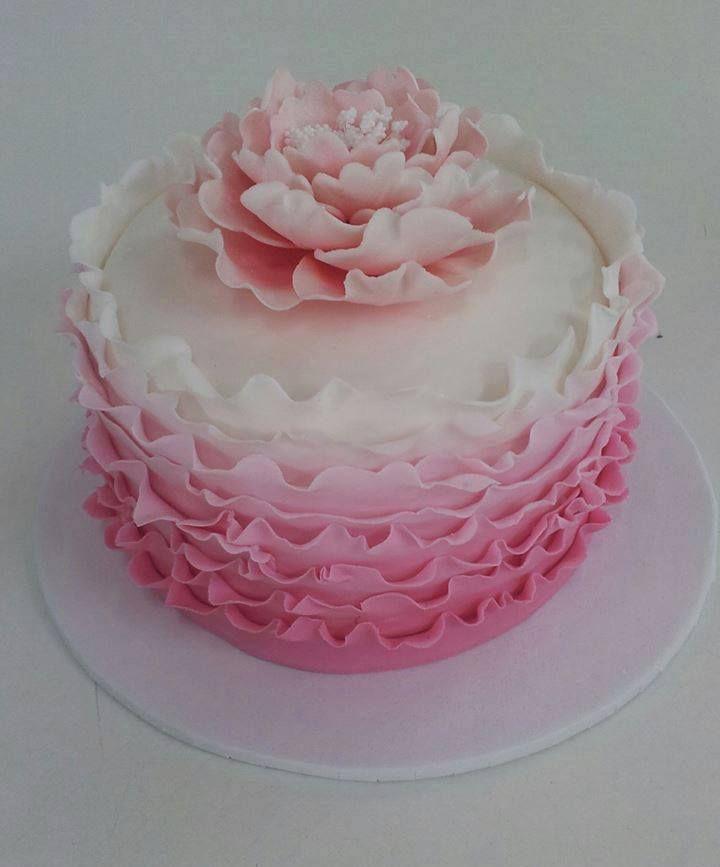Pink Belliage ruffles cake