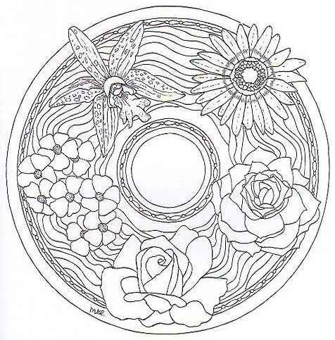 Dutch Mandala Coloring Books and Coloring Pages