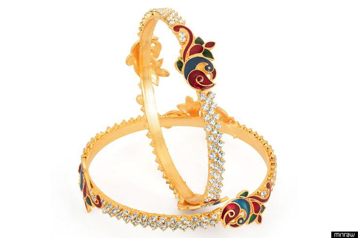 Australian stone studded bangles