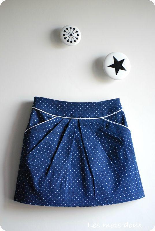 Jupe MINI-PERLE, patron de couture Ivanne.S, by Les Mots Doux ♥ #epinglercpartager