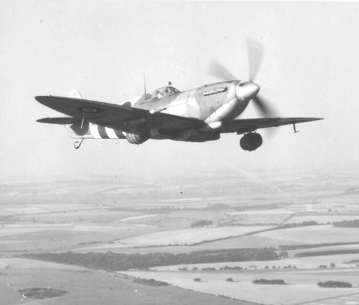 """m4a1-shermayne: """" RAF's Spitfire carrying kegs of beer for allied troops fighting in Normandy during World War II. """""""