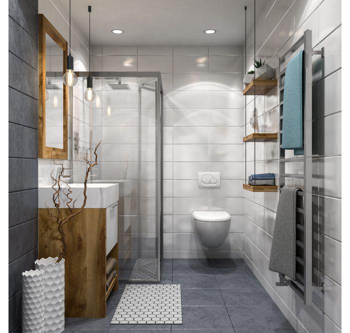 Drewno I Minimalizm W Lazience Leroy Merlin Bathroom Industrial Chic Bathroom Design Small Bathroom Interior