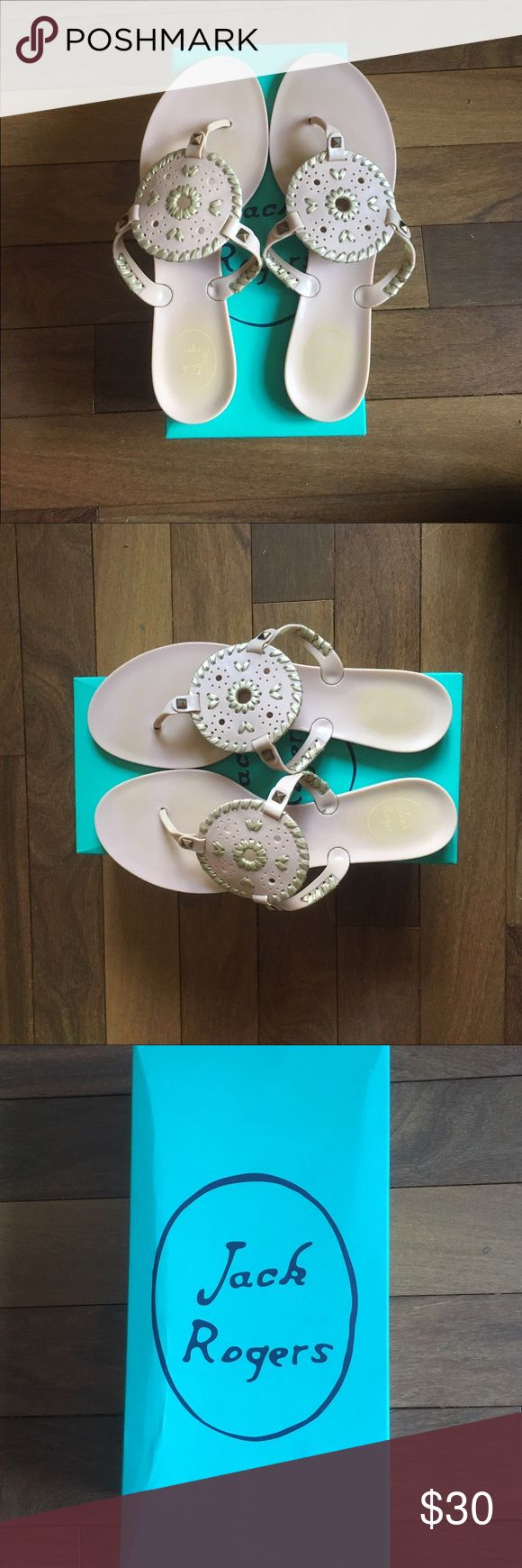 Jack Rogers Blush Pink Georgica Jelly Sandals Only been worn once or twice, good condition! Jack Rogers Shoes Sandals
