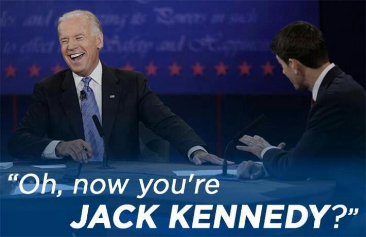 Priceless moment, Biden to ryan during vp debate. Kennedy!