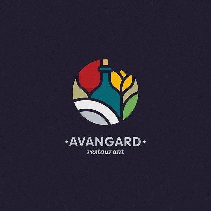 "Reposting @angerrri: … ""Avangard restaurant logo Логотип сети ресторанов. #logo #logotype #avangard #restaurant #wine #tulip #mosaic #identity #foodlogo #food #brand #logoinspire #logolearn"