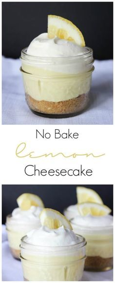 The perfect lemon cheesecake! Prepared in a mini mason jar for perfect individual portions. Great dessert for Spring and Summer!