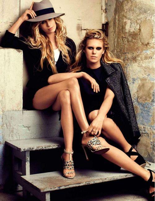 opaqueglitter:    Theodora Richards & Alexandra Richards for Vogue, Spain, May 2012